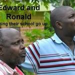 Våra samarbetspartner i Uganda, Edward och Ronlad
