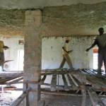 Skolbygget under byggfasen
